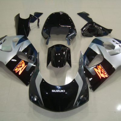 GSX R750 600 96 99 BLACK SILVER RACE