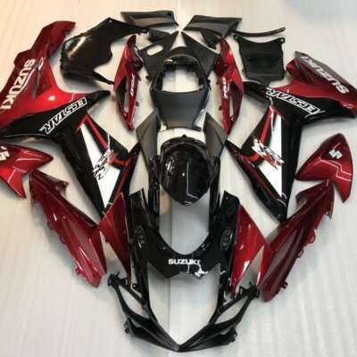 2011-2016 gsxr600 750 black red gloss