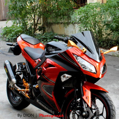 2012+ ninja300 red black