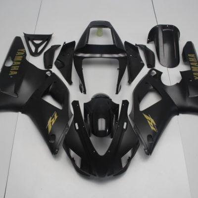 1998-1999 r1 matt black yellow