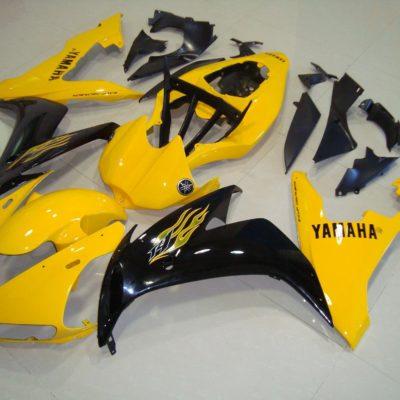 2004-2006 r1 yellow black flame