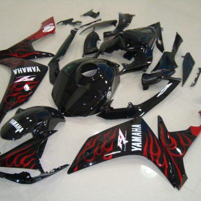 2007-2008 r1 black gloss flame