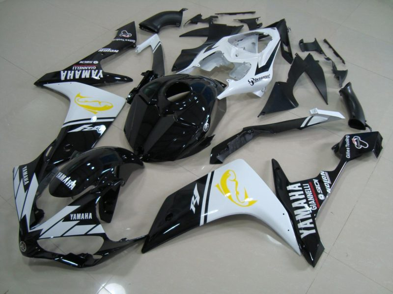 2007-2008 r1 black white dolphin