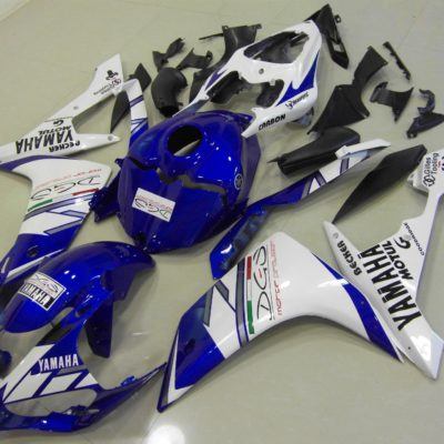 2007-2008 r1 white blue tri colour