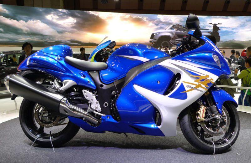 Hayabusa blue and white (gas tank inc)