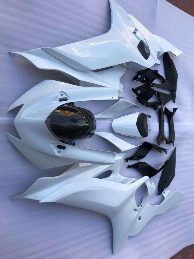 2017+ r6 all glossy pearl white carbon fiber fender