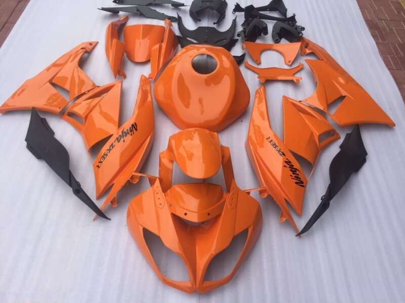 2009-2012 ZX6R orange with gas tank cover