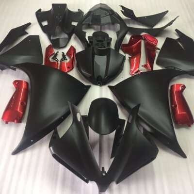 2009-2014 R1 matt black gloss red
