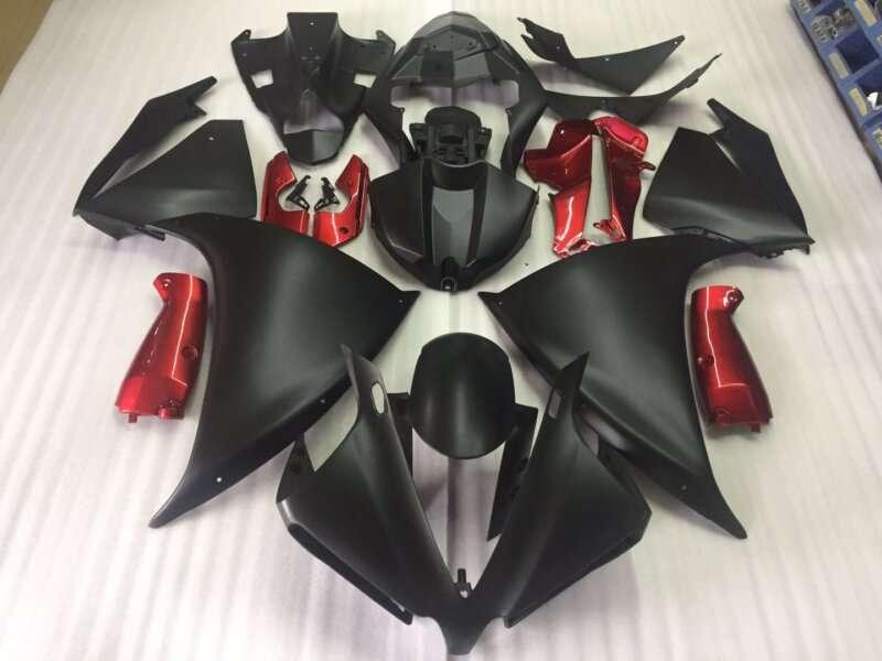 2009-2014 R1 matt black gloss red