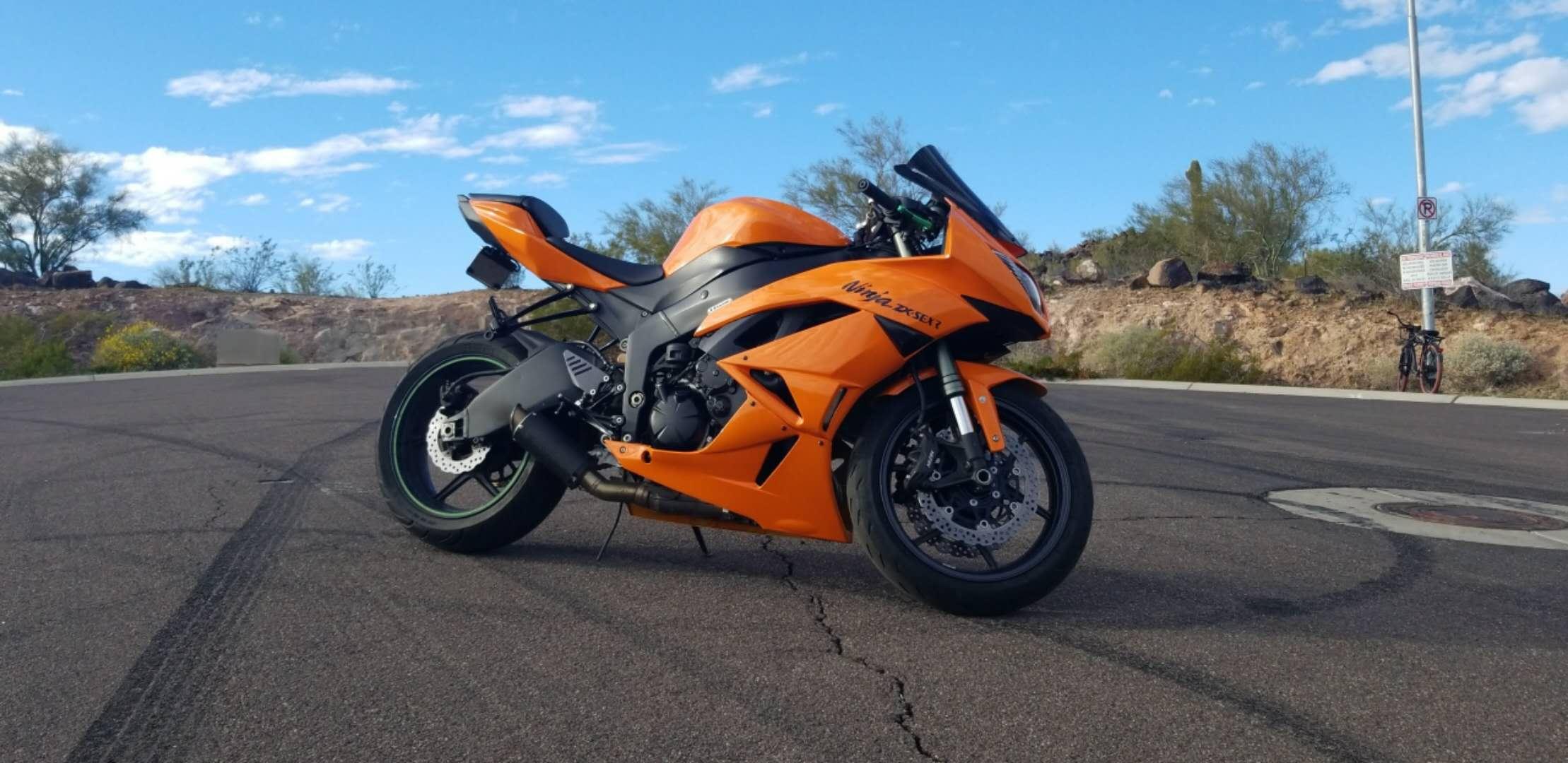 2009 2012 Zx6r Orange With Gas Tank Cover Aumotorfairing