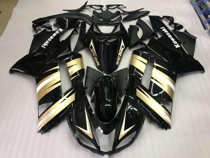 2007-2008 zx6r black gold silver