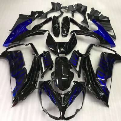 2012-2014 ninja 650 black blue flame