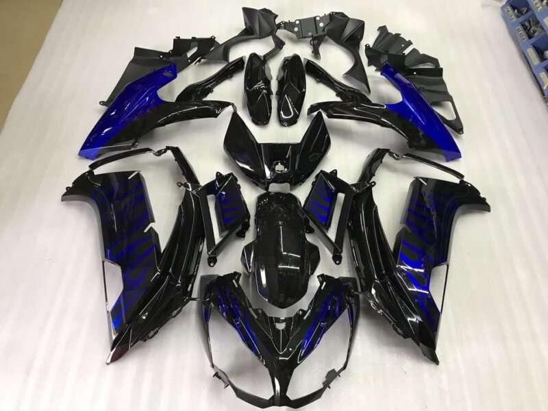 2012-2014 ninja 650 black blue flame